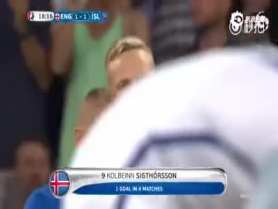 欧洲杯冰岛逆转英格兰瞬间 解说员魔性破音