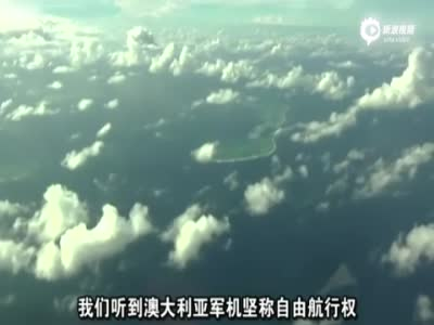 BBC记者乘机航拍南海岛礁 我海军中英文驱离