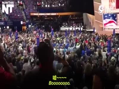 科鲁兹共和党大会演讲引不满 现场嘘声四起
