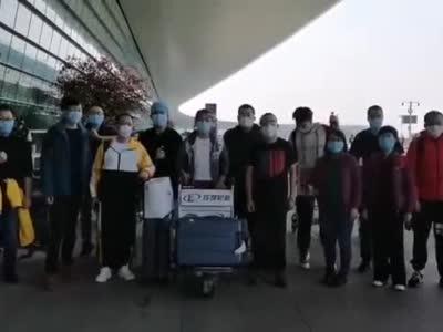 天津驰援湖北医疗队员启程返津