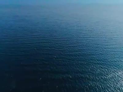 航拍云南抚仙湖 万顷烟波际绿芜