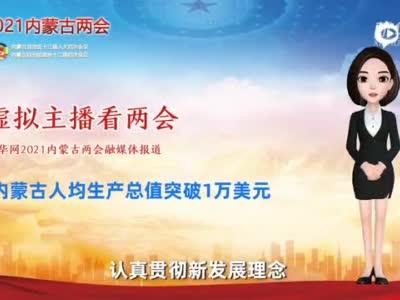虚拟主播看两会丨内蒙古人均生产总值突破1万美元