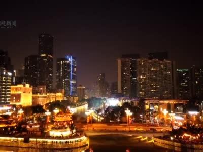 视频丨锦江亮灯 合江亭再现公园城市璀璨夜景