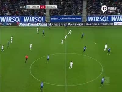 霍村11场不败创纪录 霍芬海姆2-2汉堡