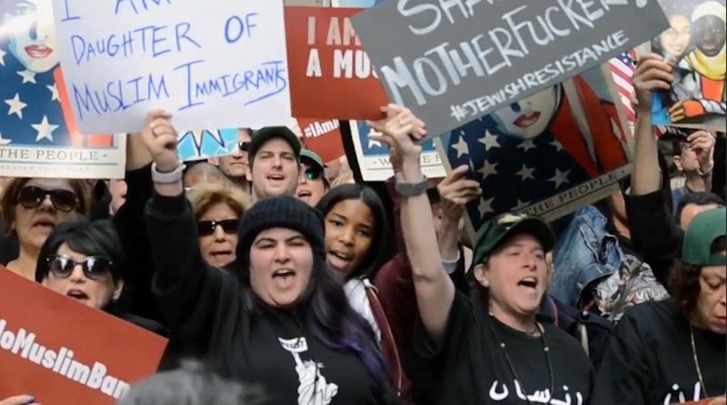 上千纽约人游行抗议川普:今天我也是穆斯林